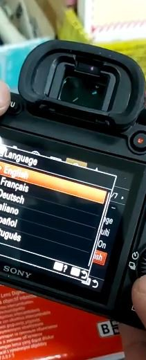 language menu